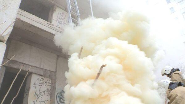 Комплексные учения по ликвидации последствий взрыва бытового газа в Евпатории