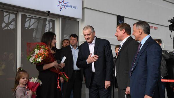 Первые пассажиры прибыли в новый терминал аэропорта Симферополь
