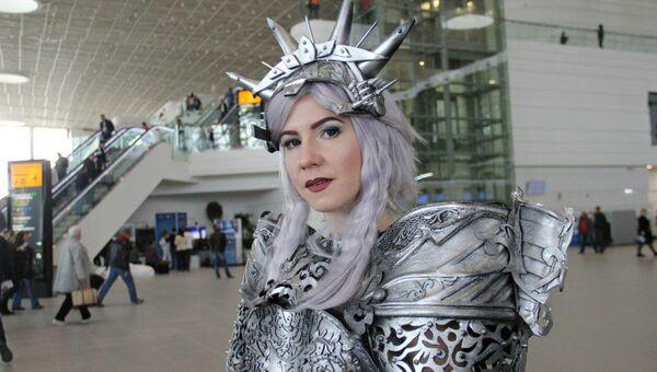 Фантастические герои в новом терминале аэропорта Симферополь