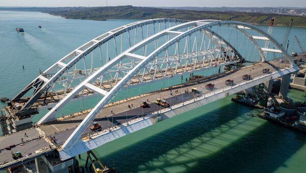 Видео строительства Крымского моста