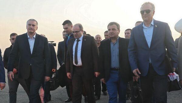 Глава Крыма Сергей Аксенов встретил сирийскую делегацию, которая прибыла в Крым для участия в ЯМЭФ