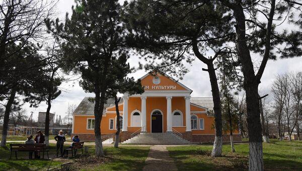 Отреставрированное здание Дома культуры села Мазанка Симферопольского района
