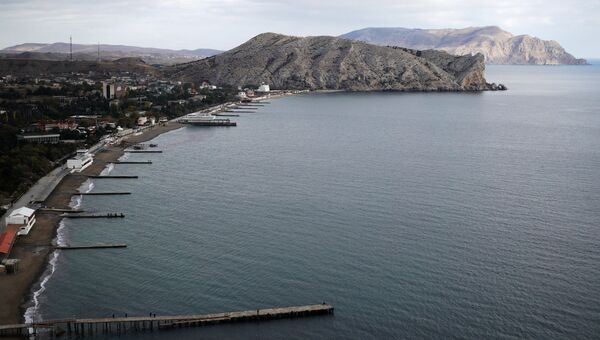 Бухта города Судак в Крыму