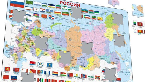 Пазл с картой России