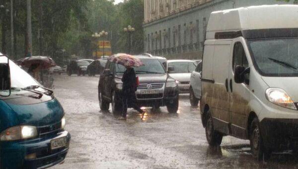 Ливень в Симферополе. 8 мая 2018