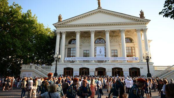 Театр им. Луначарского в Севастополе перед открытием международного кинофорума Золотой Витязь