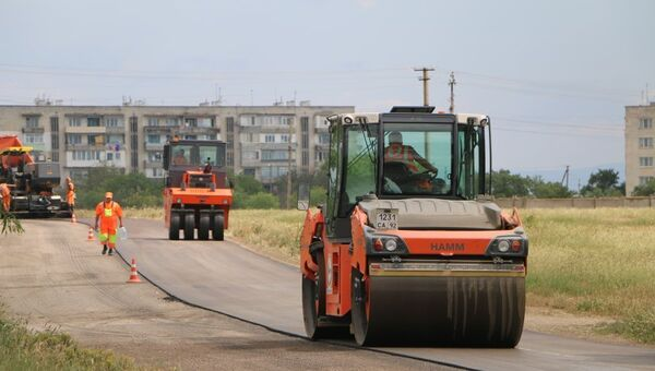 Ремонт дороги в Севастополе