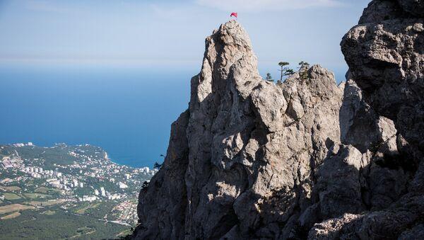 Вид с горы Ай-Петри на Южный берег Крыма