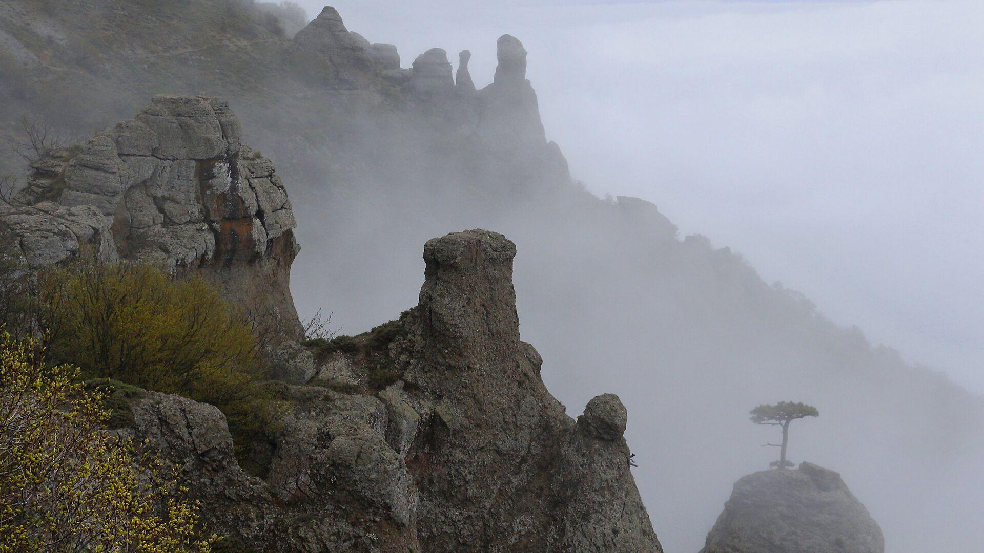Туман в горах Крыма - РИА Новости, 1920, 11.09.2021