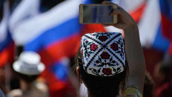 Во время празднования Дня России в Симферополе