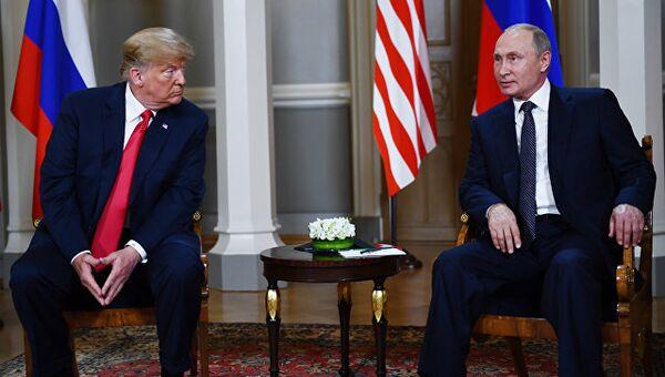 Встреча президента РФ Владимира Путина и президента США Дональда Трампа. 16 июля 2018