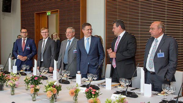 Переговоры России, Украины и Еврокомиссии по транзиту газа в Берлине. 17 июля 2018