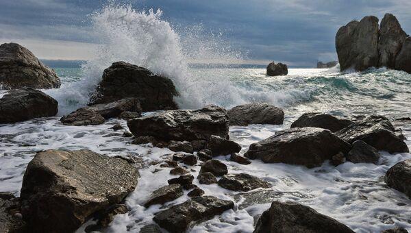 Шторм в Черном море. Архивное фото