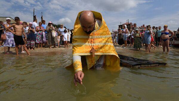 Массовое крещение в Евпатории в День Крещения Руси
