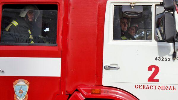 Совместные пожарно-тактические учения в Севастополе