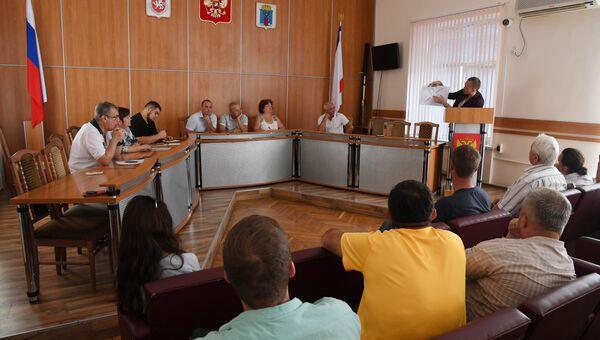 Заседание Общественного совета Феодосии. 31 июля 2018