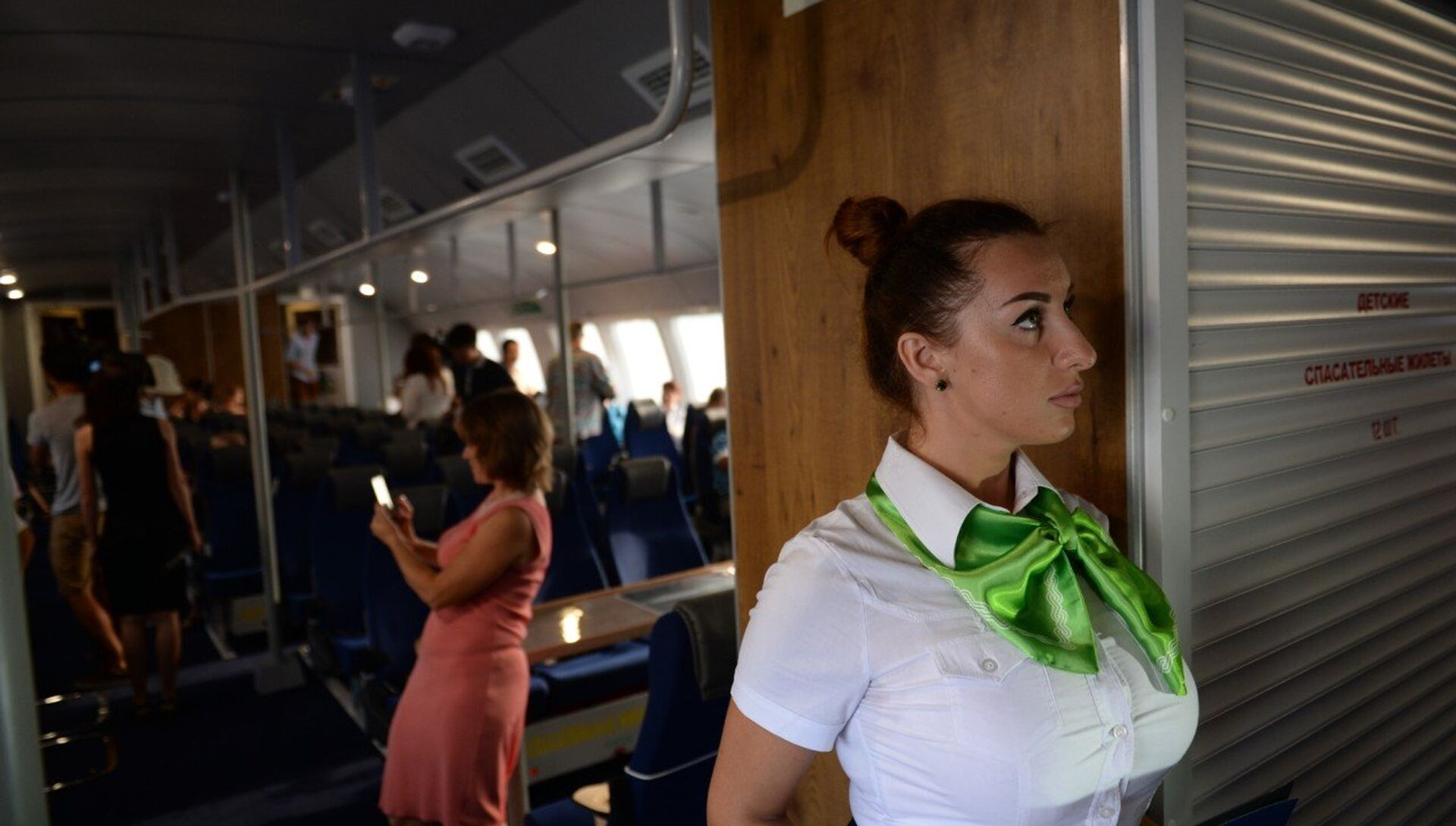 Запуск первого рейса пассажирского скоростного судна Комета в Севастополе - РИА Новости, 1920, 29.06.2020
