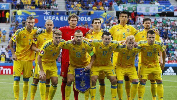 Игроки сборной Украины по футболу. Архивное фото