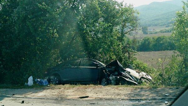 Авария с участием двух авто на трассе Ялта-Севастополь
