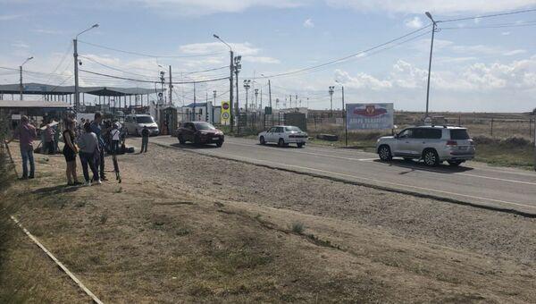 Ситуация в пункте пропуска Джанкой на границе Крыма с Украиной. 7 сентября 2018
