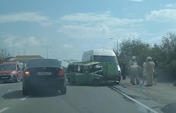 ДТП в районе села Орехово на трассе Симферополь-Саки. 9 сентября 2018