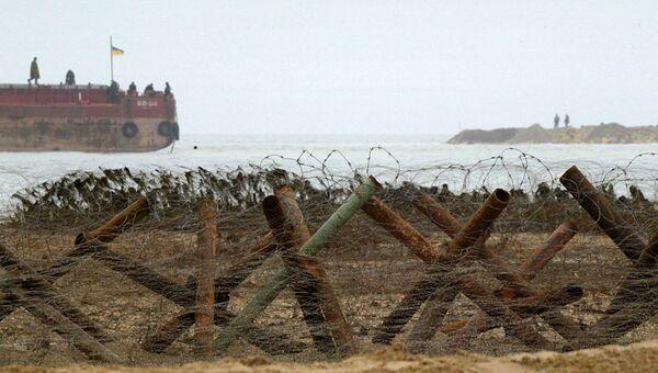 Украинские пограничники в Азовском море