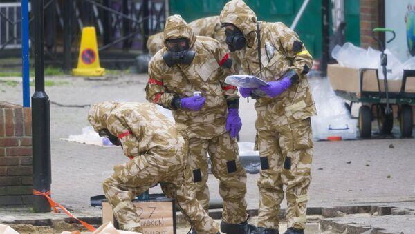Сотрудники британских спецслужб в Солсбери