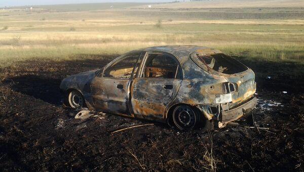 В пригороде Симферополя сгорело авто