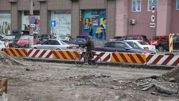 Капитальный ремонт дороги по улице Севастопольская в Симферополе