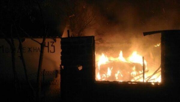Пожар в селе Солнечногорское (Алушта)