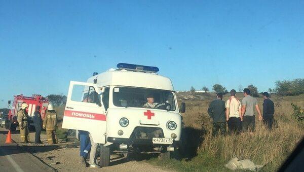 ДТП с участием грузового и легкового автомобилей в Бахчисарайском районе. 6.10.2018