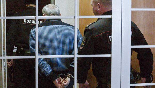 Задержанный в зале суда. Архивное фото