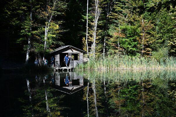 Лесное озеро в районе горы Ай-Петри