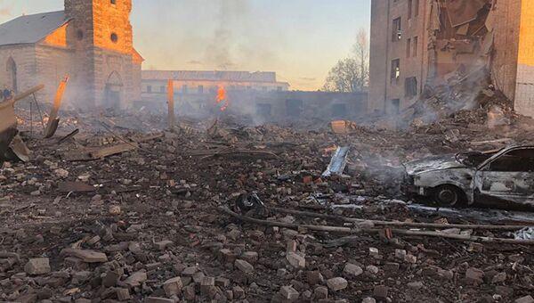 Взрыв на территории завода Авангард в Ленинградской области