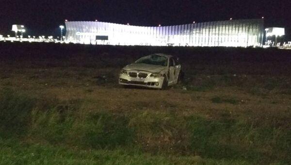 Автомобиль вылетел с проезжей части возле аэропорта Симферополь