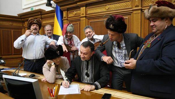 Украинские народные депутаты пишут письмо президенту РФ Владимиру Путину