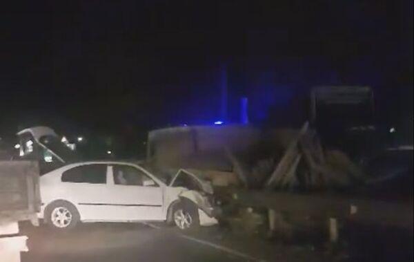 В Симферополе столкнулись четыре машины. 7 ноября 2018