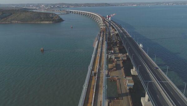 Съемка Крымского моста с коптера