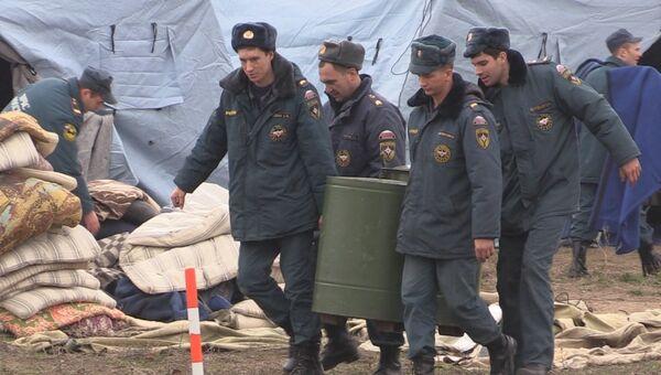 Подготовка городков жизнеобеспечения в Симферополе в первые дни блэкаута