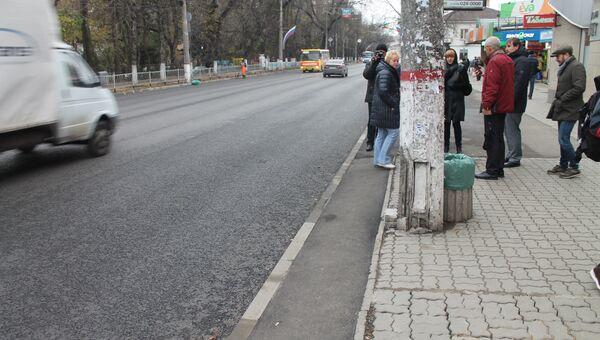 Участок отремонтированного проспекта Кирова в Симферополе