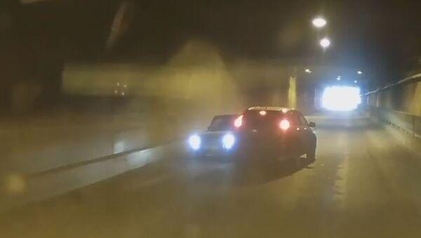 ДТП с участием двух автомобилей в тоннеле под Симферополем