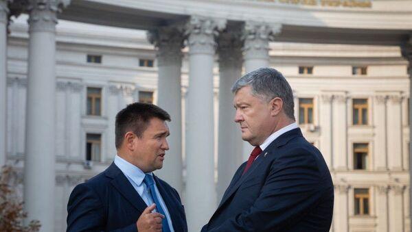 Президент Украины Петр Порошенко и глава МИД Украины Павел Климкин