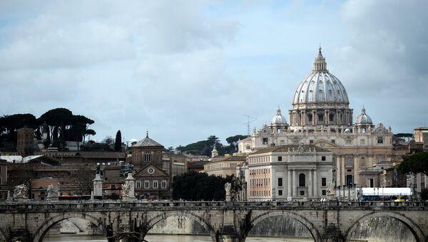 Вид на собор Святого Петра в Ватикане