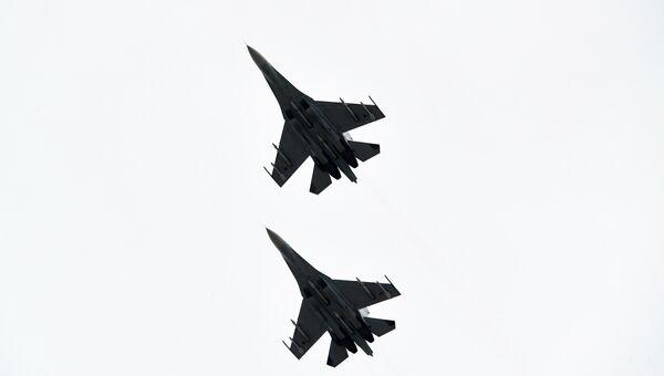 Истребители Су-30М2. Архивное фото