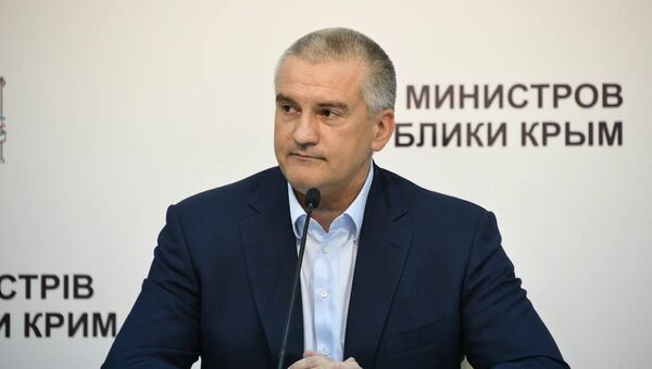 Глава Республики Крым Сергей Аксенов на пресс-конференции, посвященной итогам 2018 года