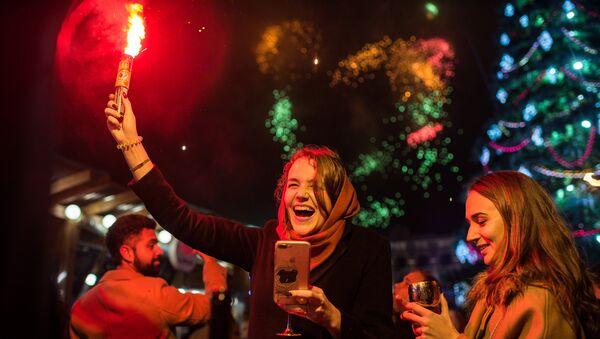 Во время празднования Нового года в Симферополе