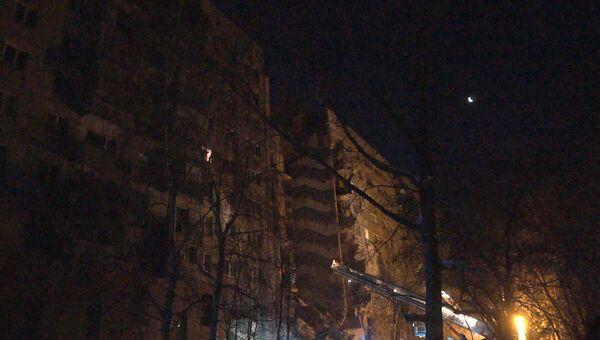 Разрушенный подъезд многоэтажки в Магнитогорске. Кадры с места происшествия