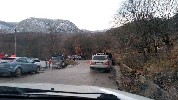 Ситуация на подъезде к плато Ай-Петри. 3 января 2019
