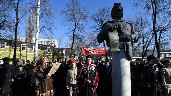 В Симферополе прошел торжественный митинг, посвященный празднованию 365-й годовщины Переяславской рады