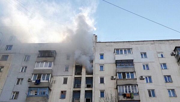 На пожаре в девятиэтажном жилом доме на улице Батурина в Симферополе эвакуированы 10 человек